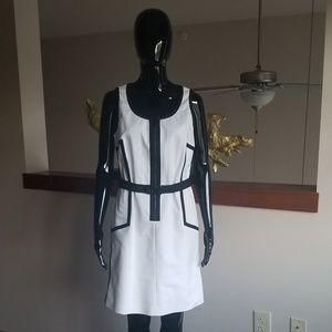 White and black Michael Kors Dress